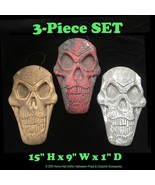 Dimensional SKELETON SKULL PLAQUE WALL SIGN Halloween Prop Crafts Decora... - $9.87