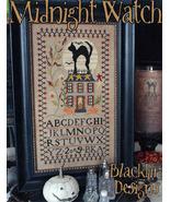 Midnight Watch **REPRINT** cross stitch chart Blackbird Designs  - $8.10