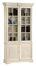 French Country Cream  Cornice Accent Bookcase/Curio Cabinet,47'' x 91''H. - $2,965.05
