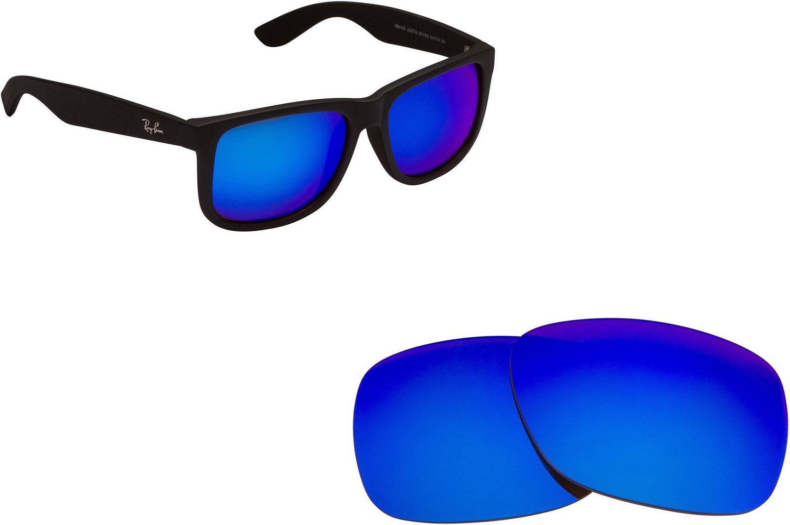 58297e8572 71g4bokni l. 71g4bokni l. Previous. New SEEK Replacement Lenses Ray Ban  Justin 4165 - Polarized Blue Mirror