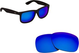 New SEEK Replacement Lenses Ray Ban Justin 4165 - Polarized Blue Mirror - $19.29