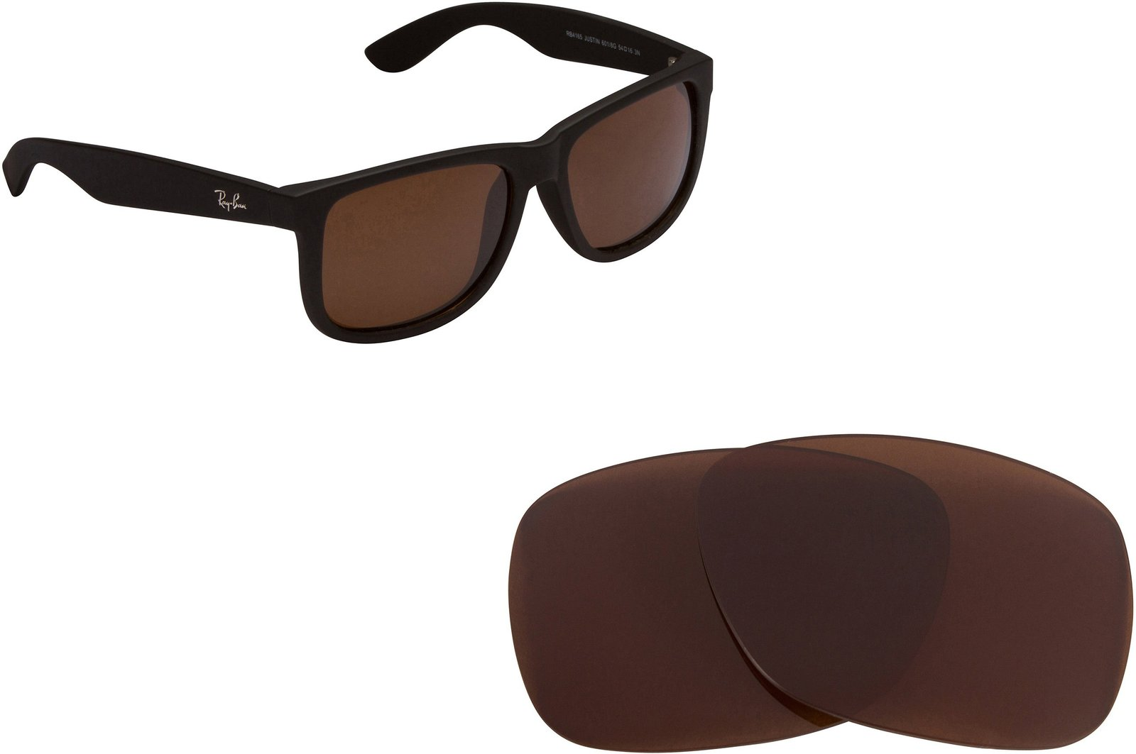 Primary image for New SEEK OPTICS Replacement Lenses Ray Ban Justin 4165 - Polarized Brown B-15