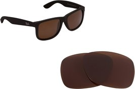 New SEEK OPTICS Replacement Lenses Ray Ban Justin 4165 - Polarized Brown B-15 - $19.29