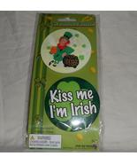 "St Patricks Day Collectible Irish Theme Slogan 3"" Pinback Button Pair Set - $7.95"