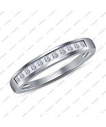 925 Sterling Silver White Gold Fn. Princess Cut White Cz Women's Engagem... - $45.99