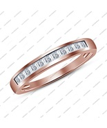 Women's Rose Gold Plated 925 Silver Engagement Ring In Princess Cut Whit... - $45.99