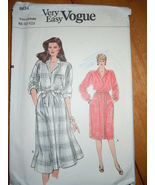 Very Easy Vogue Misses Size 8-10-12 Shirt and Skirt Pattern #8634  - $4.99