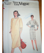 Very Easy Vogue Misses Size 8-10 Dress Pattern #8565   - $4.99