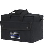 Black Heavyweight Mechanics Tool Bag Thin Blue Line TBL Support Police U... - $16.99