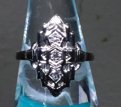 "ANTIQUE VICTORIAN FILIGREE DIAMOND & WHITE GOLD  RING ""NICE"" - $470.25"