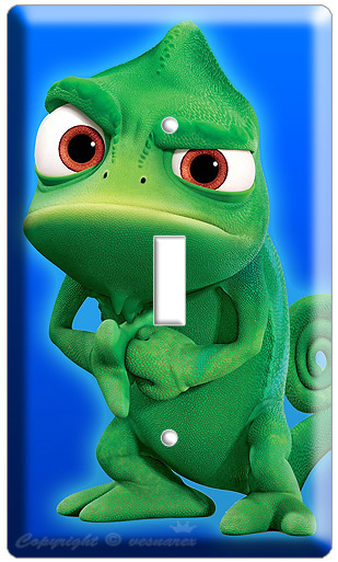 PASCAL CHAMELEON RAPUNZEL TANGLED MOVIE SINGLE LIGHT SWITCH WALL PLATE poster