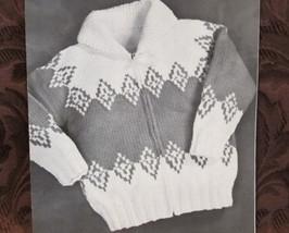 Vintage Mary Maxim Knitting Patterns CHILDREN Cardigan Sweater Sizes 8 - 12 - $5.95