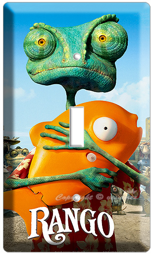RANGO CHAMELEON JOHNY DEPP MOVIE CARTOON SINGLE LIGHT SWITCH WALL PLATE COVER NW