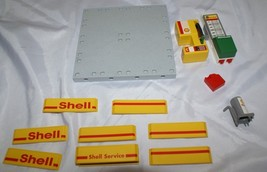 Playmobil Rescue Police Replacement Part LOT Shell Oil Gas Station  - $19.78