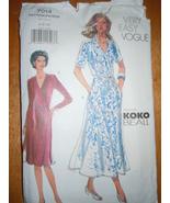 Very Easy Vogue Misses Size 6-10 Dress Pattern #7014 Uncut - $7.99