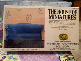 Dollhouse House of Miniatures Chippendale Sofa Circa 1750-1790 40015 New Sealed - $19.99