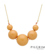 PILGRIM SKANDERBORG Necklace With Simulated gems Yellow Base metal and O... - $25.00