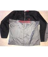 Adidas ~ Men's Black Gray Red 3-Striped Track Jacket Light Weight Mesh L... - $19.34