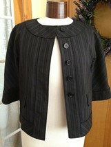Anne Klein Women's Blazer Black Pinstripe Stretch Blazer Size 2P NWOT - $26.52