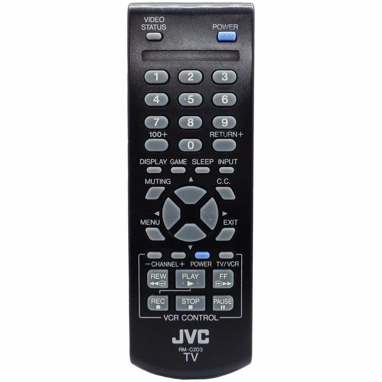 JVC RM-C203 Factory Original TV Remote AV27FA44, AV32FA44, AV36FA44, AV36F704 - $10.89