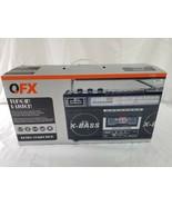 Portable Retro Boombox Radio Recorder Player USB / SD/AUX Cassette MP3 C... - $89.05
