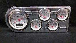 1948 1949 1950 FORD TRUCK 5 GAUGE CLUSTER WHITE METRIC - $256.78