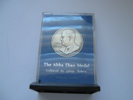Israel , The Abba Eban Medal , Silver , 39 mm , Statesman For Peace - $75.00