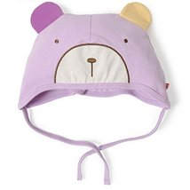 Baby Bear Hat Toddler Soft Hat Infant Cotton Hat 0-18Months (Light Purple)
