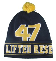 LRG Mens Black Yellow Core Collection Men's 47 Lifted Pom Beanie Winter Hat NWT image 2