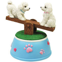 Poodles See-Saw Musical Figurine - $29.95