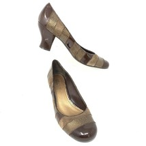 Franco Sarto Womens Pumps, Size 8 M, Brown, Patchwork Stripe - $18.46