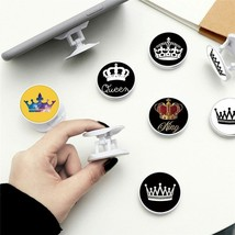 Foldable Phone Painted Expanding Stand Grip Finger Ring Anti-Fall Round ... - £2.81 GBP+