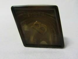 Boyd Art Glass Paperweight Logo Chocolate Slag B In Diamond - $9.99