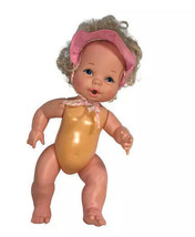 Mattel 1884 Nude Baby Doll Vintage Blue Eyes Blonde Hair with Hat - $16.63