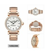 NWT Coach 14502398 White Dial Rose Gold Stainless Steel Women's Watch - $132.88