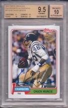 Chuck Muncie 2013 Topps Archives Fan Favorites Autographs #FFA-CM Bgs 9.5/AU 10 - $89.10