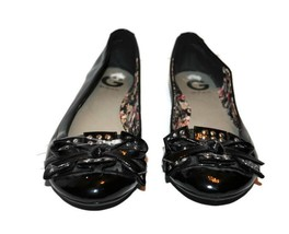 G by GUESS Black Ballet Flats 9M Womens Bow Metal Studs Shoes NEW - $23.09