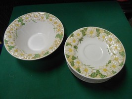 "Great Poppy Trail By Metlox China ""Sculptured Daisey"" Bowl & 6 Saucers - $8.72"