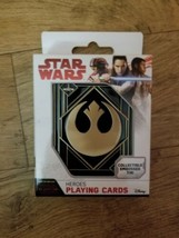 Star Wars Heros Playing Cards - In Collectible Embossed Tin New - $4.29