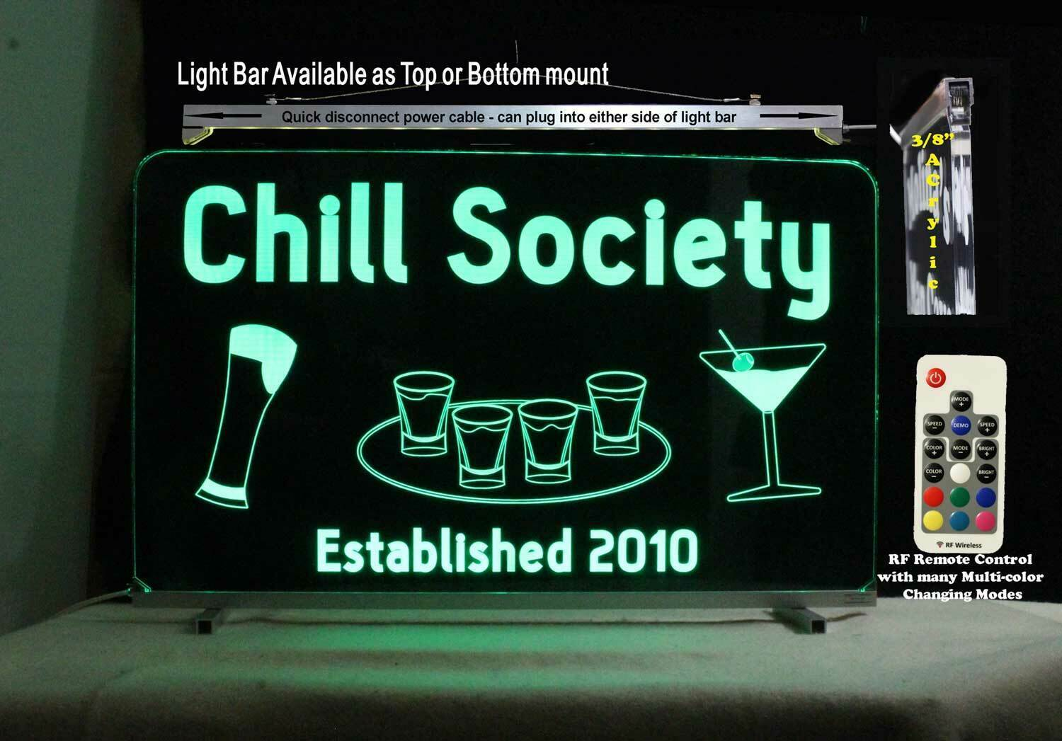 Custom Lighted Bar Sign, Man Cave Sign-Personalized LeD Sign