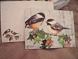 NEW Box 12 Lang CHICKADEE BIRD CHRISTMAS CARDS & Envelopes Lori Siebert ... - $14.80
