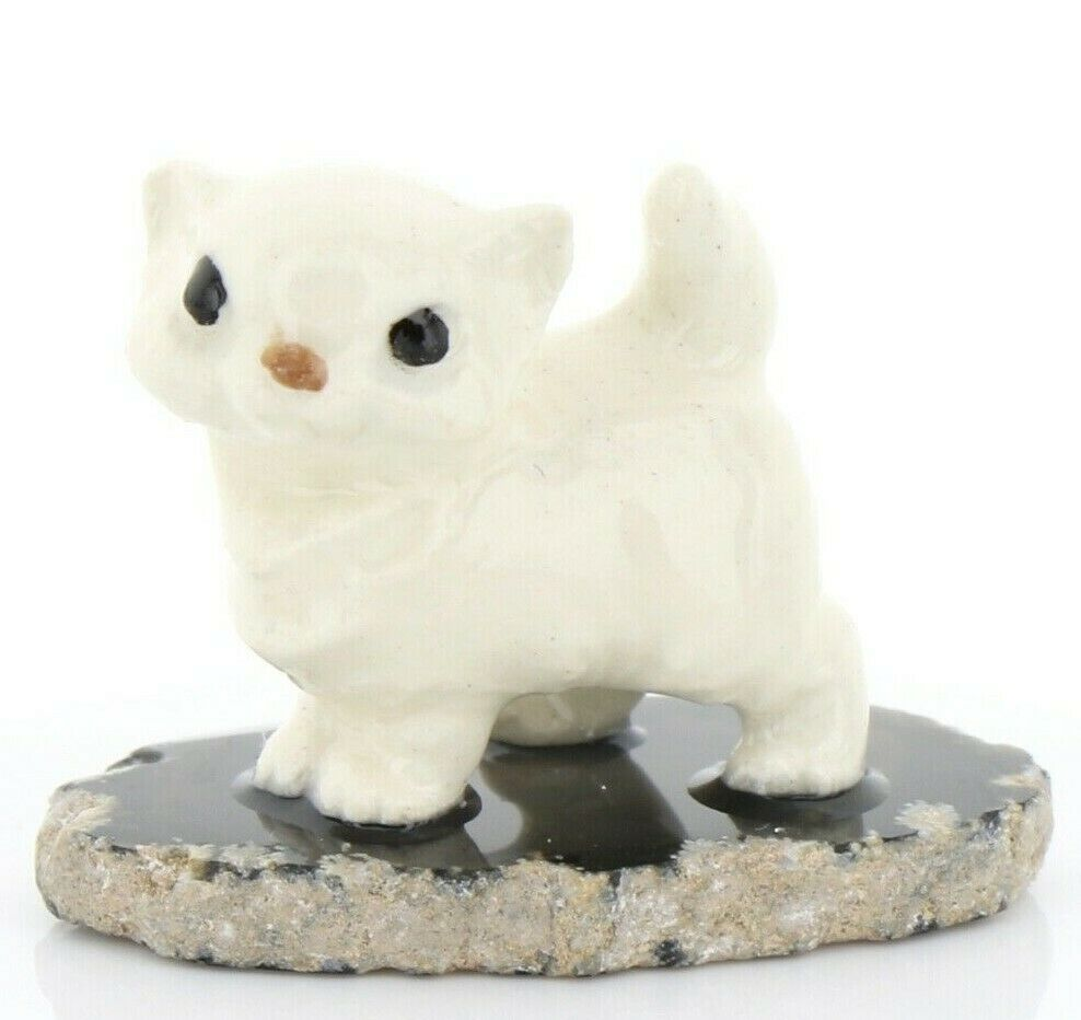 Hagen Reanker Miniature Cat Tiny Persian Kitten on Base Stepping Stones #2738
