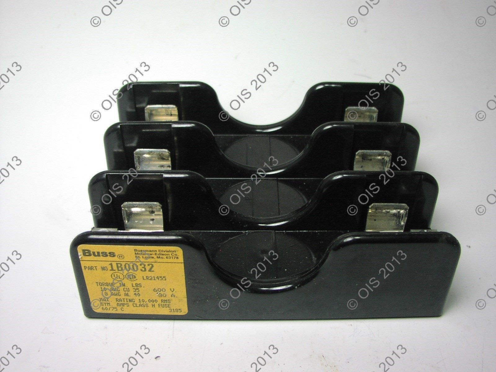 Bussmann 1b0032 Fuse Holder Block Class H 3 And Similar Items Distribution Box Pole 30 Amp 600vac Panel Mount
