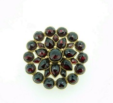 Genuine Natural Bohemian Garnet Pin with Large Rose Cut Garnets (#J4600) - $250.00