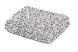 Kashwere Throw Blanket Mini Cable Heather Slate Grey & White - $165.00
