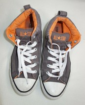 Converse Chuck Taylor All Star Mid Top Sneakers Mens 8 Gray w/Orange Lining - $23.23