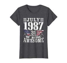 Brother Shirts - Legends Born In JULY 1987 Being 31 Yrs Years Old Awesom... - $19.95+