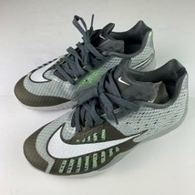 Nike Hyperlive Sneakers Shoes Men sz 8 Gray white green Basketball Low - $49.99