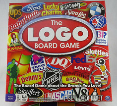THE LOGO BOARD GAME - First Edition - Spin Master - $20.00