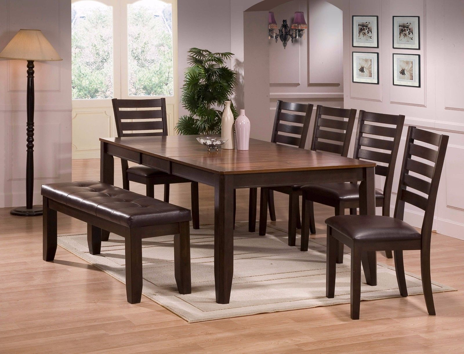 Crown Mark 2328 Dining Room Set 7pc. Elliott Collection Transitional Style
